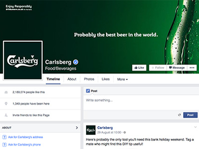Carlsberg social media consolidation